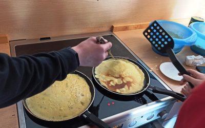 Pfannkuchen – peka palačink pri nemščini